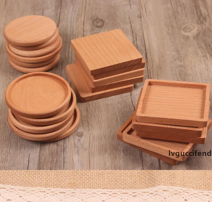 Legno Coasters di legno di legno isolata termicamente Pad Tea Cup Pad isolato Alcol Mats Teiera Table Mats GGA2389