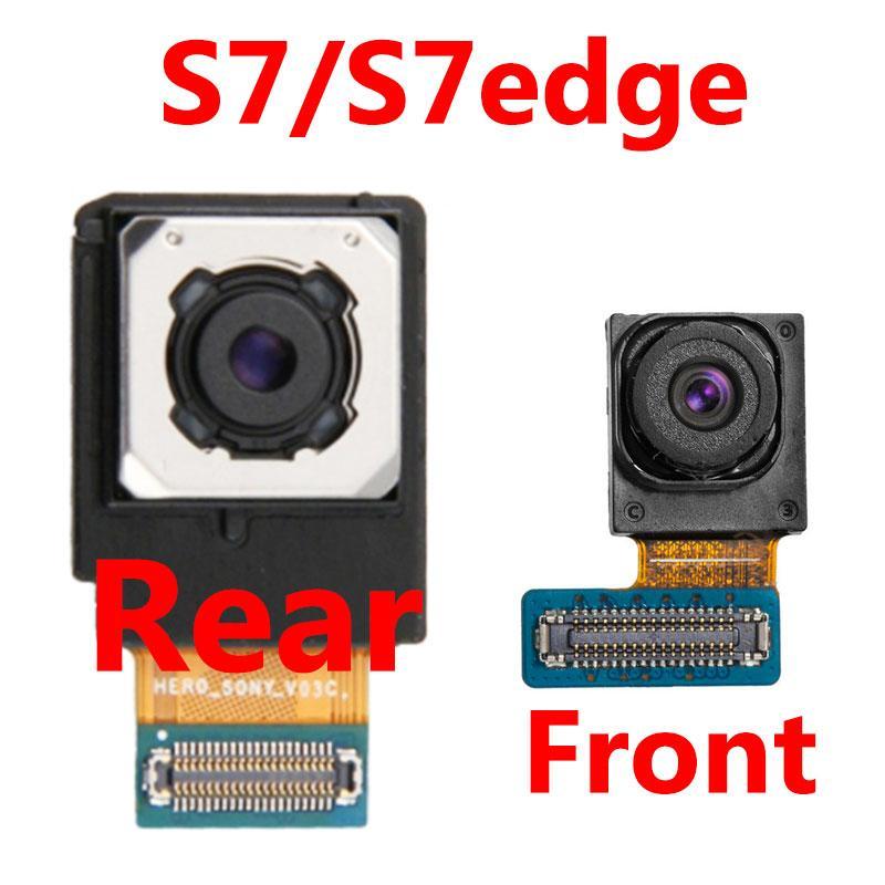 Fotocamera frontale per Samsung Galaxy S7 bordo G935F Torna telecamera posteriore Modulo grande macchina fotografica principale del cavo della flessione G930F