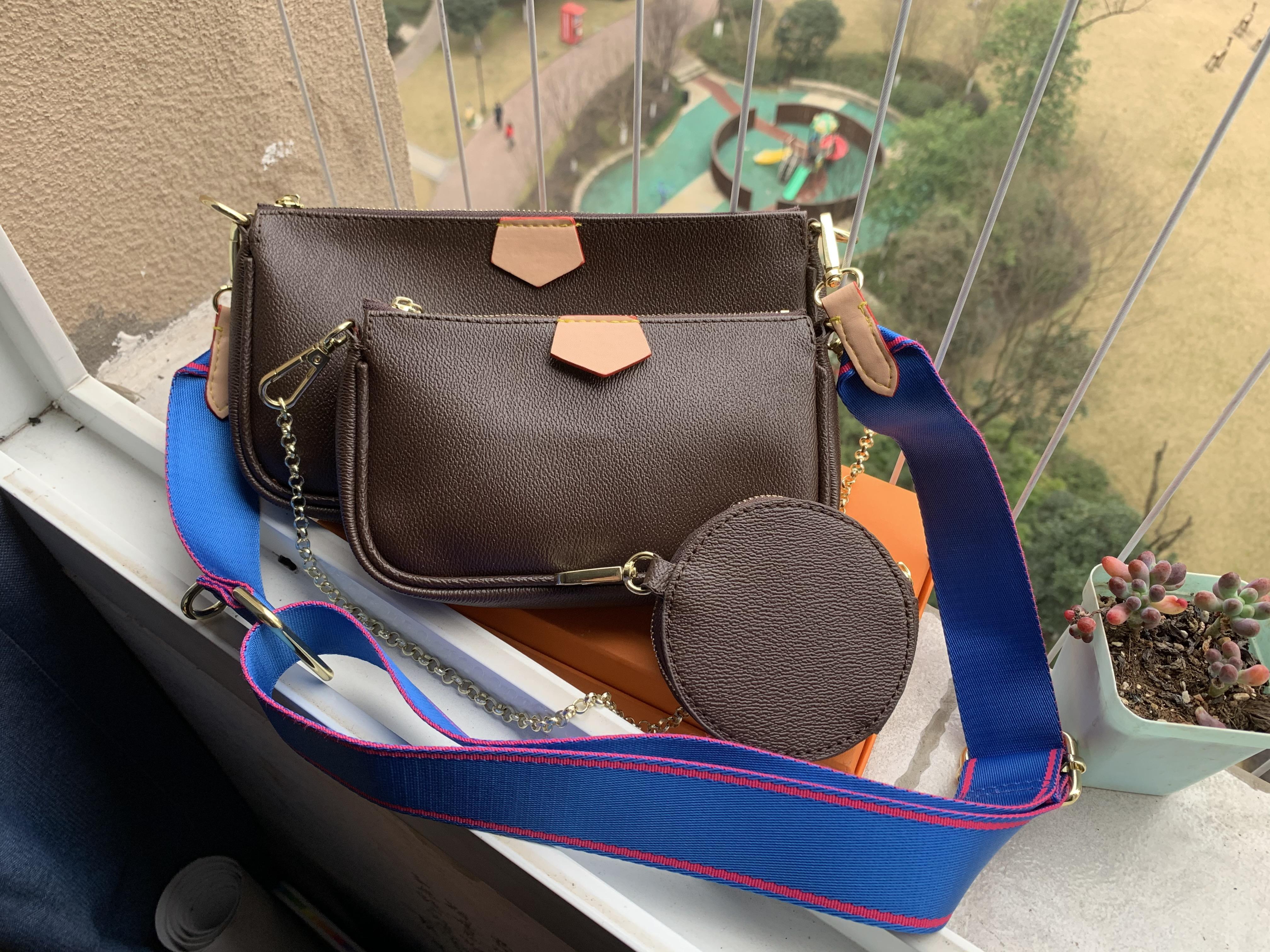 Verkauf 3 Stück Set Tote Lady Frauen Crossbody Tasche Geldbörsen Leder Luxus Münze Echte Geldbörse Taschen Taschen Designer Drei Artikel Handtaschen Design Wvax