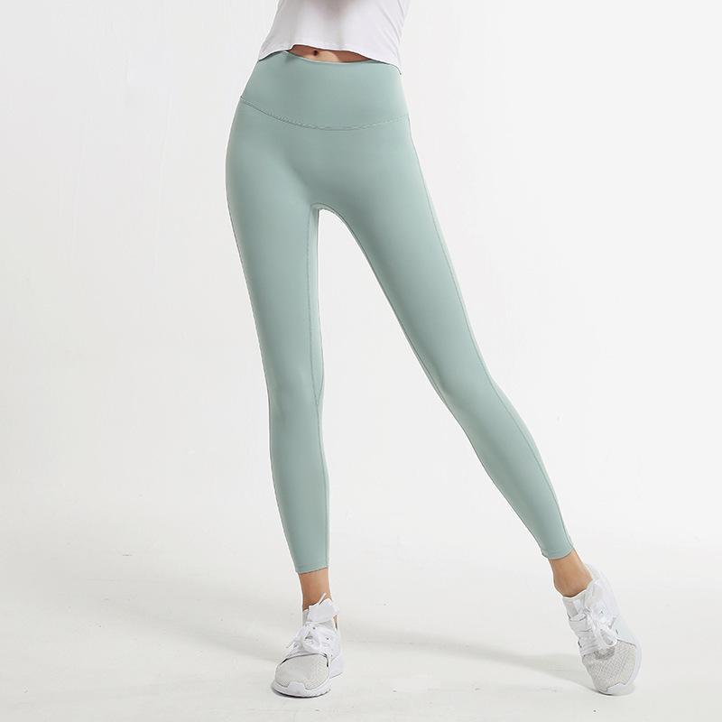طماق Yogaworld النساء فتاة اليوغا السراويل لا خط محرج ارتداء ضيق الجوارب التدريب تشغيل عالية الخصر مرونة الأسود