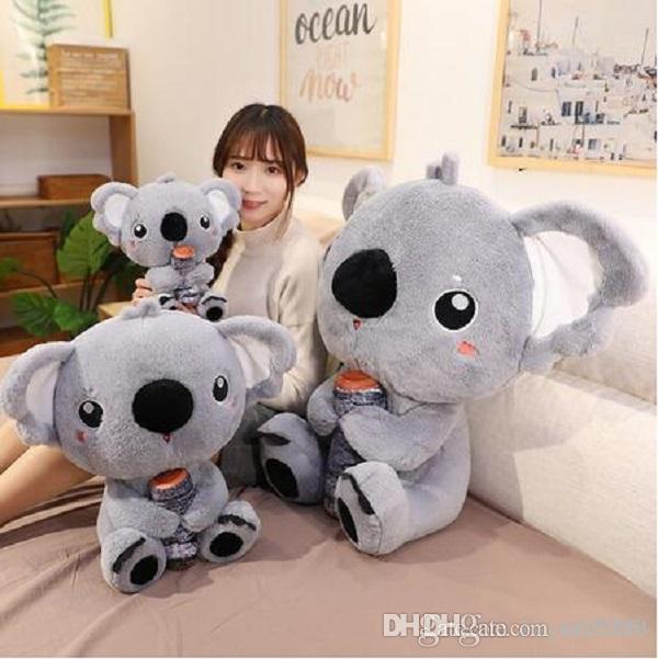 abrazo koala muñeca del oso de koala lindo almohada juguete de peluche niños almohadilla del regalo de Navidad muñeco de trapo cumpleaños de la historieta