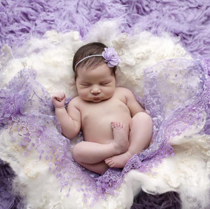 Duche Stretch Lace Enrole Baby Gift recém-nascido de maternidade Swaddlings e estofamento bebê recém-nascido Fotografia Props
