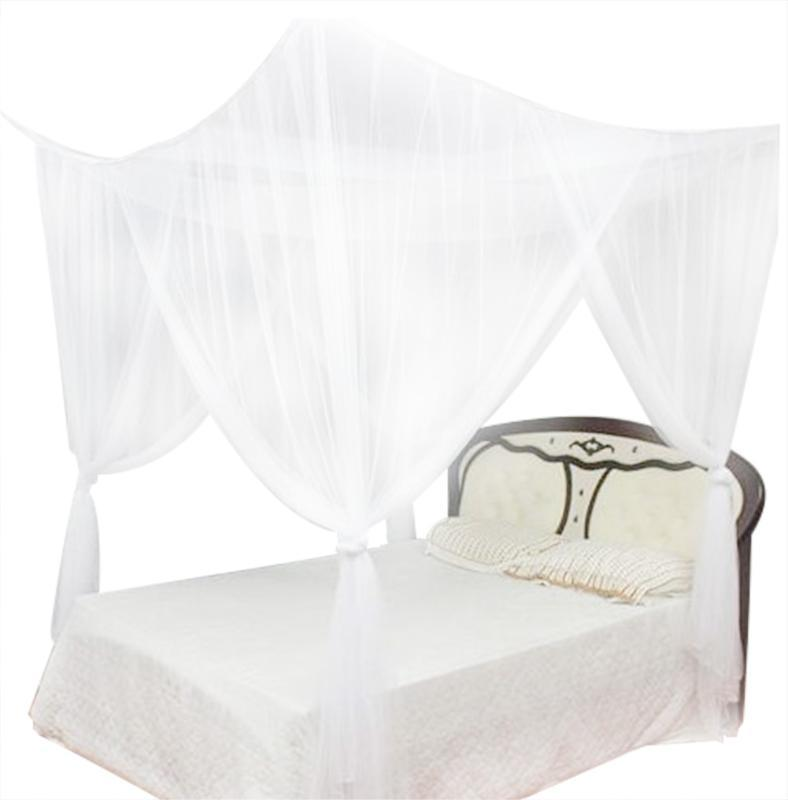 4 Canto Publicar Bed Canopy Publicar Bed Canopy Mosquito Net Rede Cortina Dustproof Início Cama tamanho da cama