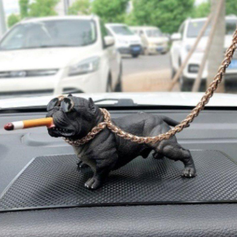 Car Bully Dog Ornaments Mini Decoration Animal Very Cool Styling Gift For Friend High End Car Interior Trend Dog Simulation Doll Xogf Electronics For Cars Interior Fan For Car Interior From Qianeyes