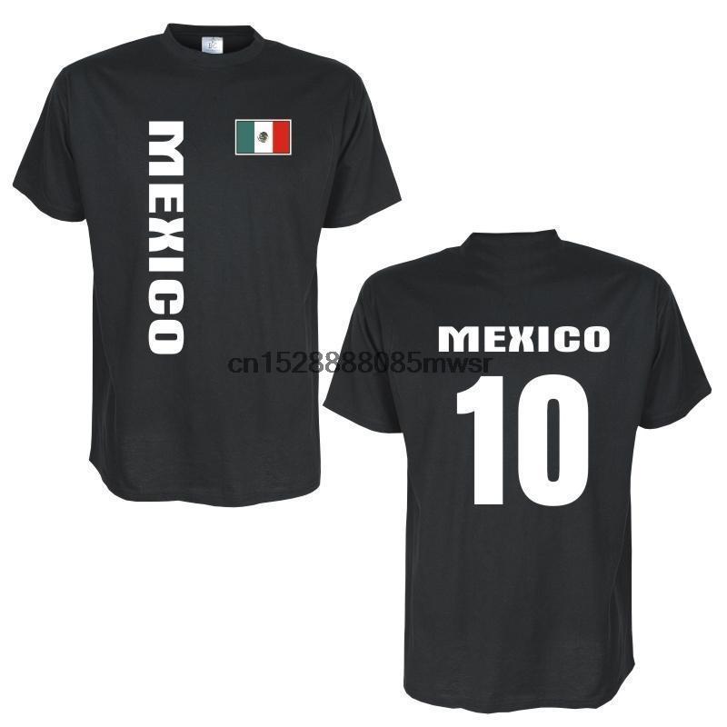 2020 Moda O-Boyun Erkekler tişört Tişört MEKSİKA Lander Flagshirt mit Ruckennummer