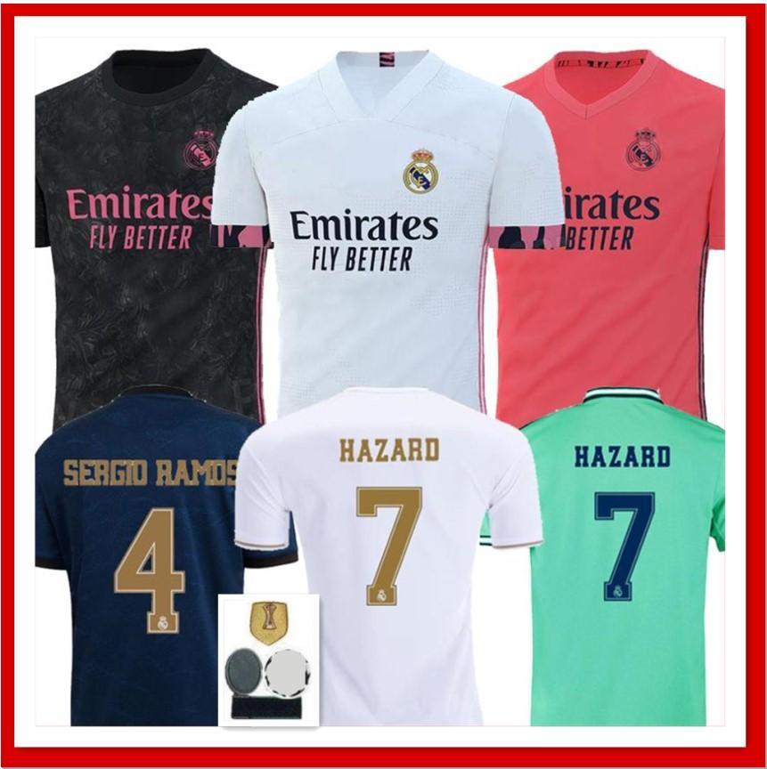 2020 Real Madrid Jerseys 20 21 Soccer Jersey Home Away Hazard Sergio Ramos Benzema Vinicius Camiseta Football Shirts Uniforms Men Sets 2020 2021 From Jerseyclubsoccer000 13 64 Dhgate Com