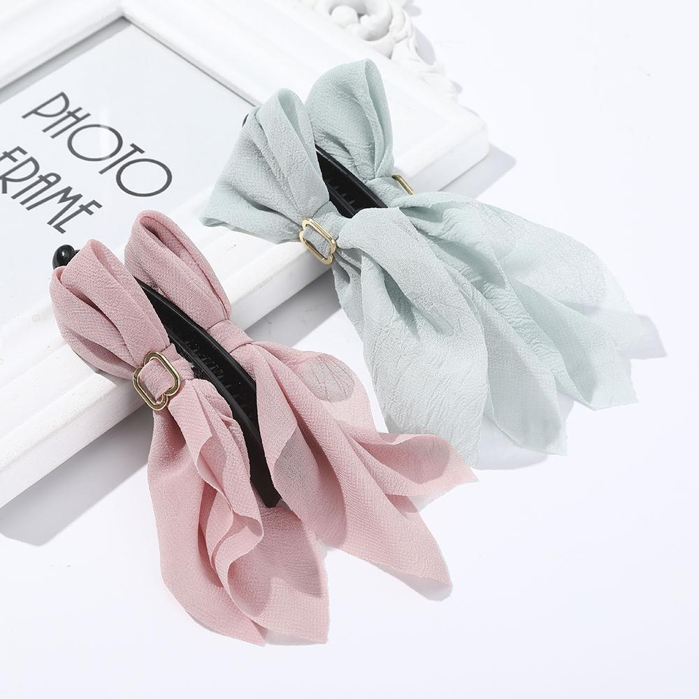 2020 New Claw Clip for Women Bow Hair Claw Hair Clamps Fashion Claw Clip Crab Solid Color Headwear Hair Accessories