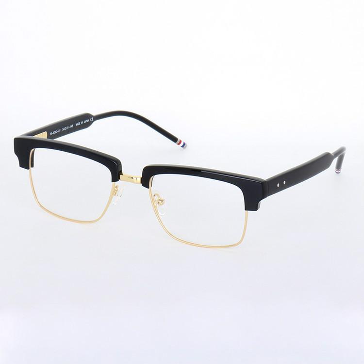 2020 مصمم جديد عالي الجودة TB806 نظارات الذكور، كبير مربع إطار لوح + معدنية مع كامل مجموعة-galssses حالة وصفة طبية FREESHIPPING