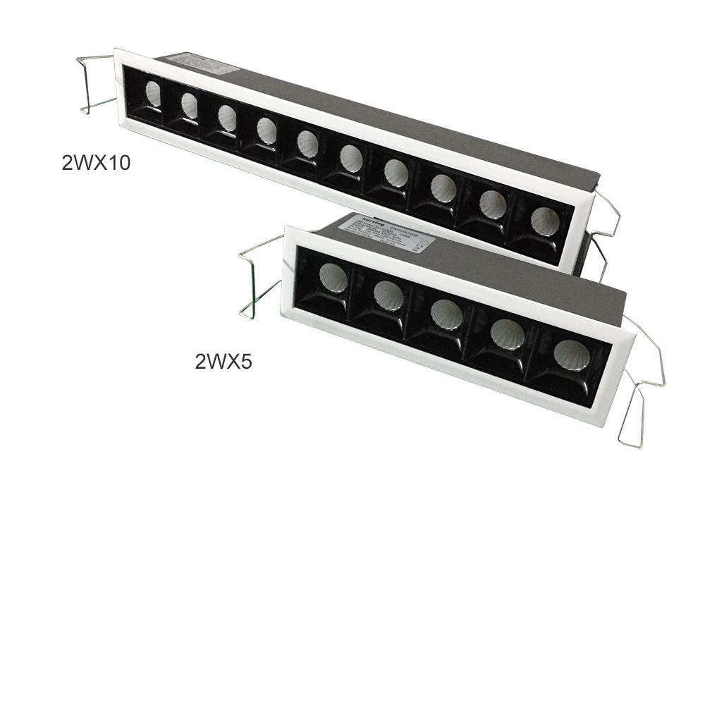 Innovation linéaire plafond pointe encastré Lumière, peut être obscurci 2WX10 2WX15 lumineux Faisceau 15 30 Petit Constrast invisible LED haute Downlight