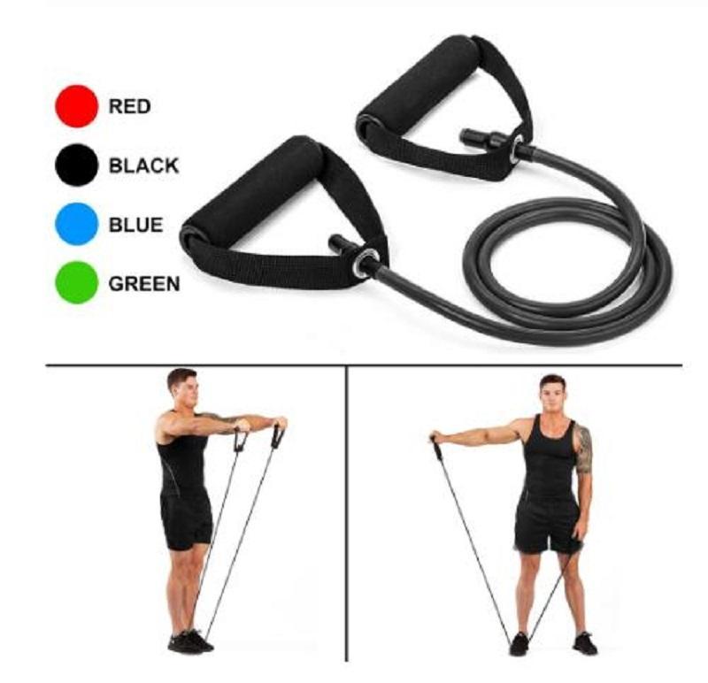 120cm Yoga Pull corde Bandes élastiques Fitness Bandes élastiques Équipement de remise en forme en caoutchouc expandeur entraînement exercice bande de formation