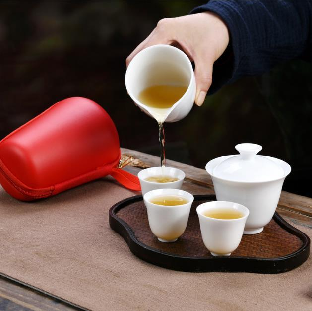 2020 5pcs/set Kung fu tea set Ceramic Tea cup chinese travel set Coffee cups white Teacup