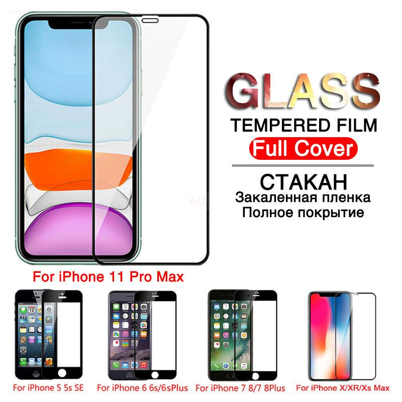 Cubierta completa templado iPhone de cristal durante 11 Pro XR X iPhone XS MAX Glass Pro 11 Pantalla Max protector de vidrio de protección en el iPhone 11