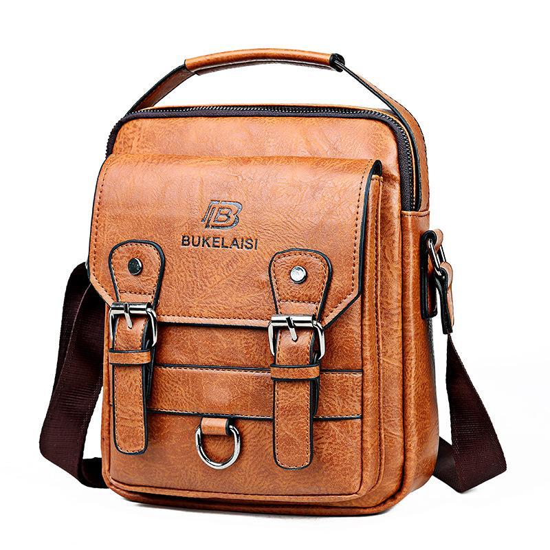 حقيبة الكتف الفاخرة حقيبة صغيرة للماء قطري الرجال الأسود سستة حقيبة الأعمال الرجال العلامة التجارية حقيبة يد حقيبة WJJ