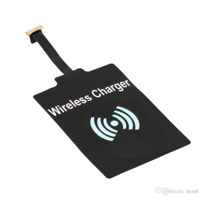 Universal-Qi Wireless-Ladegerät Empfängermodul schnelle Geschwindigkeit Ladeadapter für Samsung Android Typ Telefon schwarz zlstore007 fXTfw