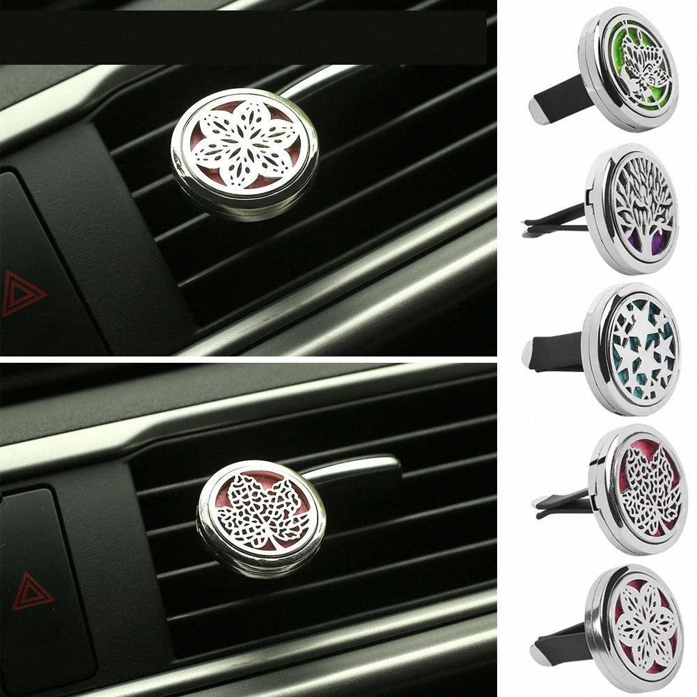 Araba Kamyon Vent Klip Oda Parfümü Arıtma Parfüm Parfüm Esansiyel Yağı Aroma Diffuser Hediye Paslanmaz Çelik Araç-stying RKSI #