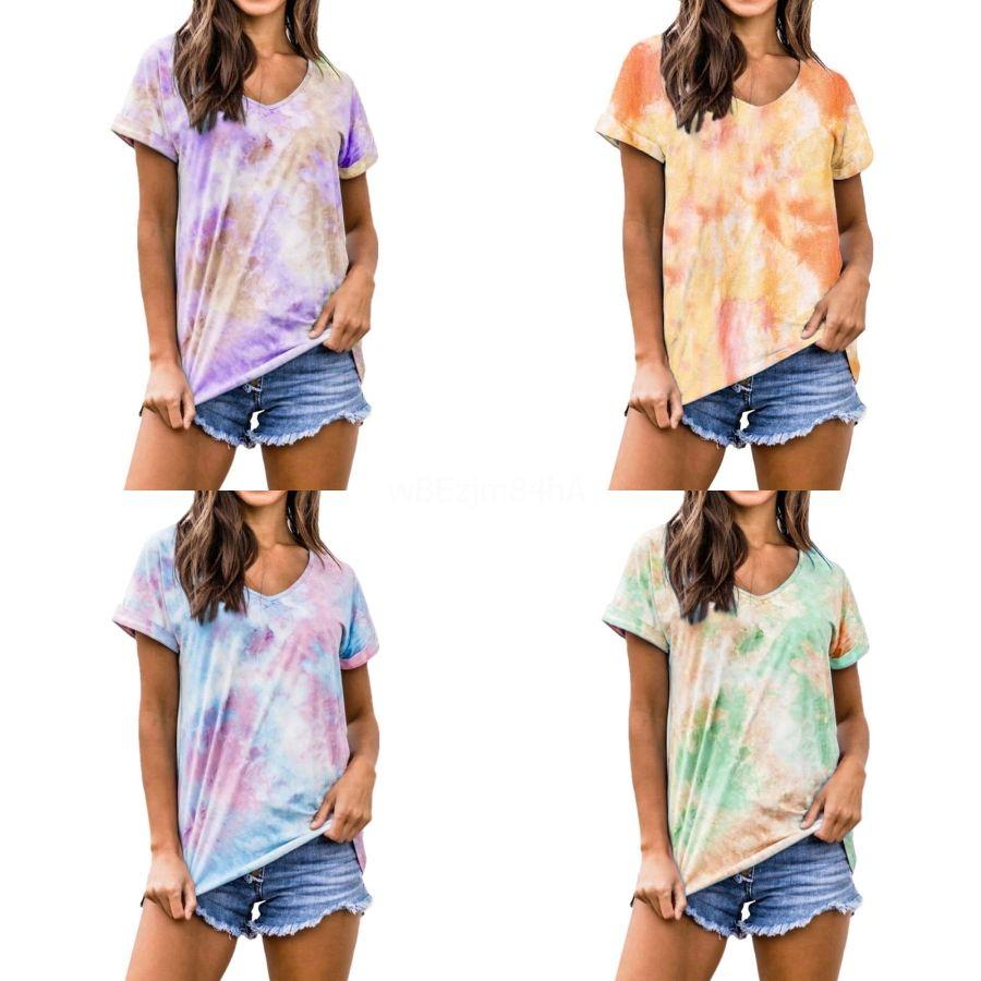 2020High-качества Женщины Футболка с коротким рукавом Сыпучие версия футболки Teddy Bear печати Футболка Star В этом же пункте Tshirts # 981