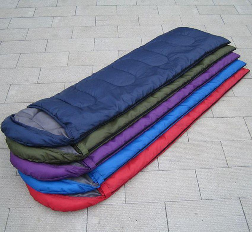 Взрослый спальный мешок Открытый Спорт Отдых Туризм Mat Blanket Путешествия Отдых Кемпинг Спальный мешок 5 цветов KKA7984