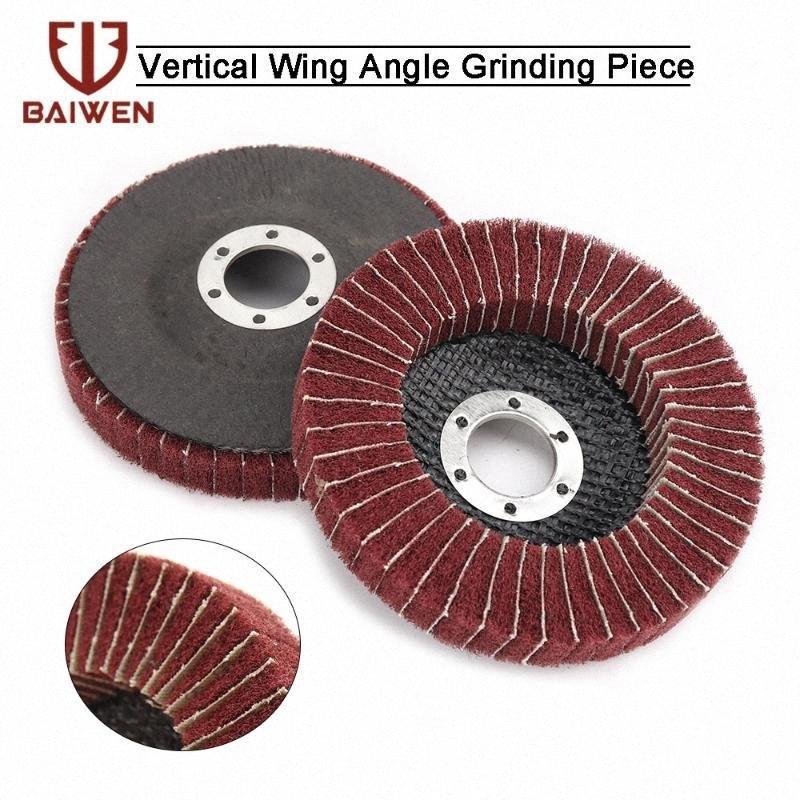 5Pcs Nylon Fiber Flap Polishing Wheel Grinding Disc 115mm Scouring pad Buffing Wheel for Angle Grinder Grit 240 JqxS#