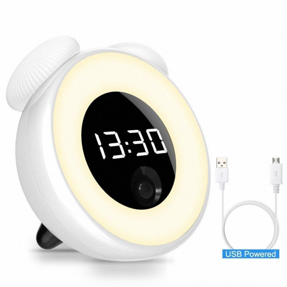 Elektronische Digital-Wecker Einstellbare Nachtlicht Kleinkind-Wecker Bewegungssensor Snooze Desktop-Uhren für Kinder Schlafzimmer ADfH #
