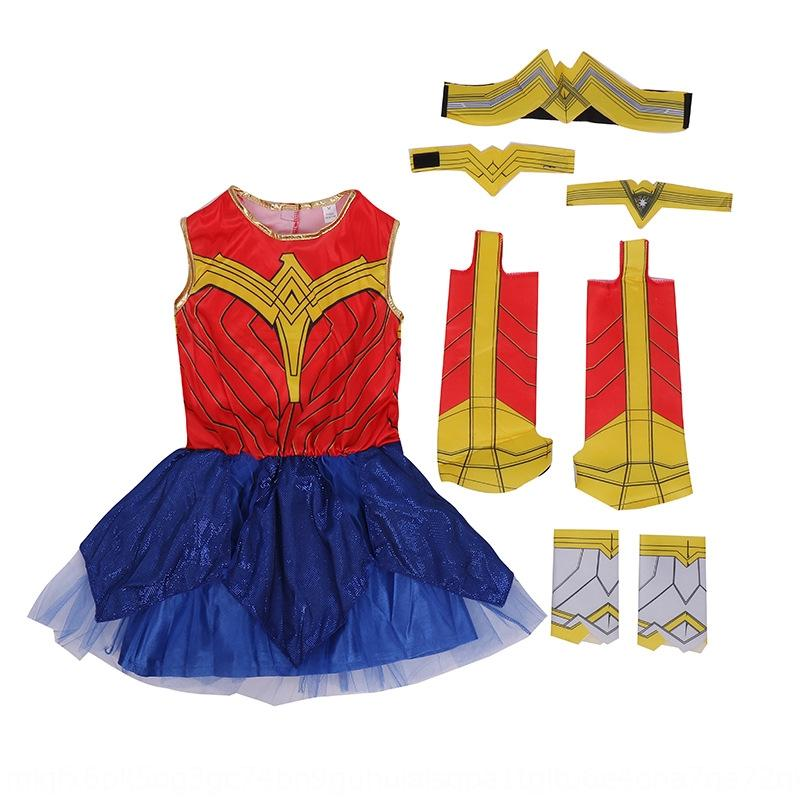 kBWhH Children's Wonder Woman movie Acting heroine Cosplay role-playing costume suit Children's Wonder Woman movie Acting clothing clothing