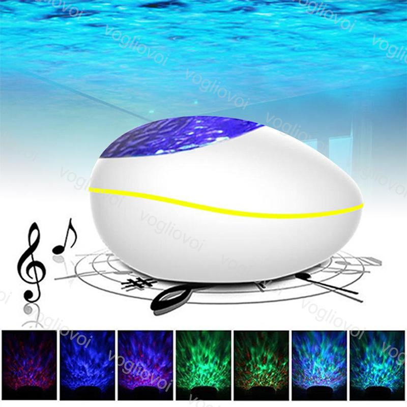 Efeitos LED Bluetooth Music Player Water Onda USB multicolour com temporizador de controle para sala de estudo banheiro sala de banho DHL