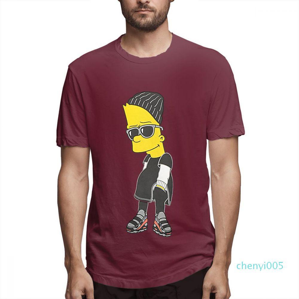 Le Camicie Designer Simpson Moda Donna Camicie maniche corte camicia da uomo le magliette Simpson Stampato T estate causale tops c5003c05