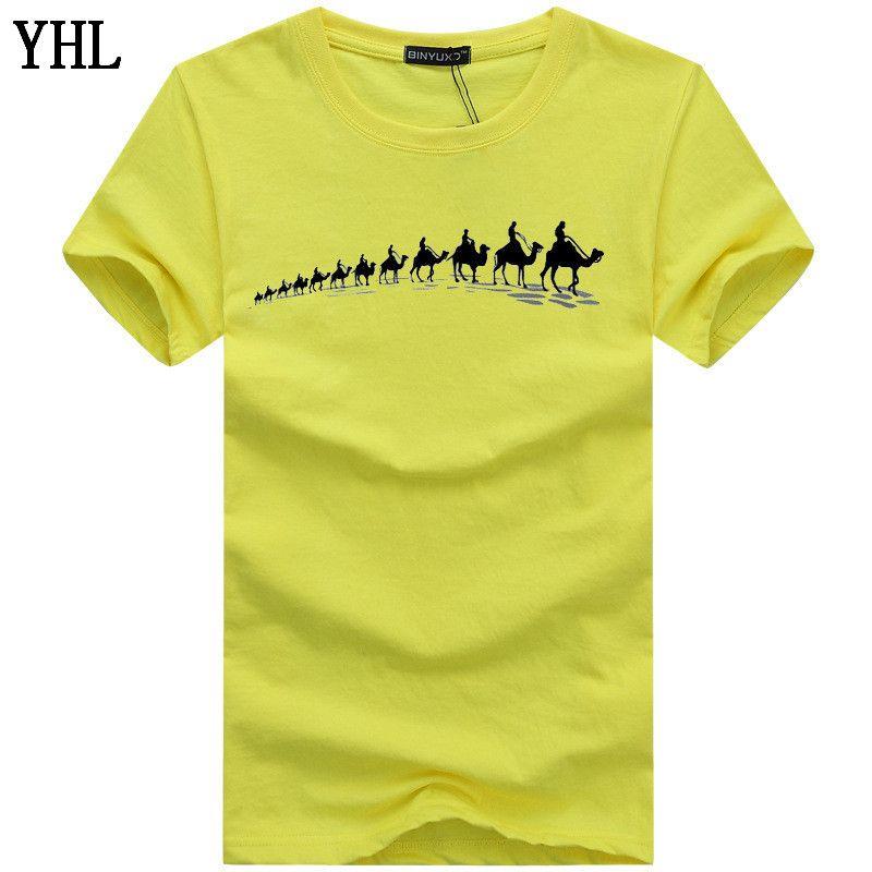 Nuova camicia manica corta T uomini marchio di abbigliamento casual Stampa Mens T-shirt di qualità morbida del cotone puro Tees Maschio Plue formato 5XL C-2