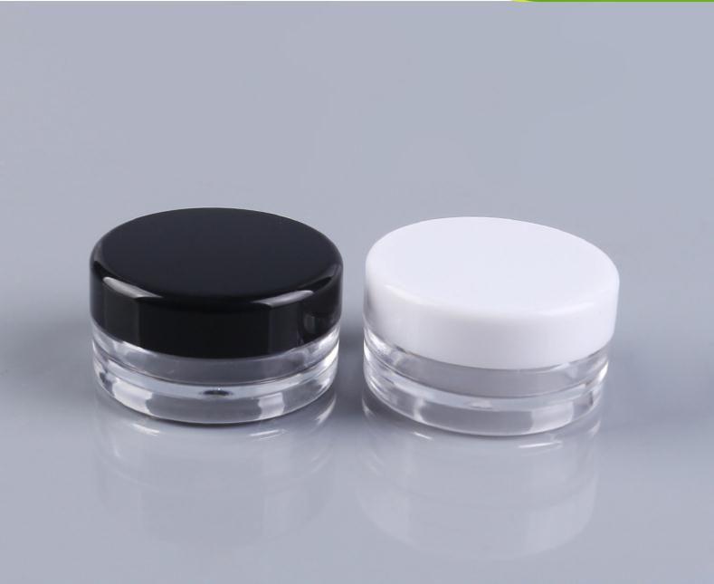3 мл Очистить базы Пустой пластиковый контейнер баночки горшок 3 грам Размер для Косметическое Крем для глаз Тени Ногти Powder Jewelry SN3206