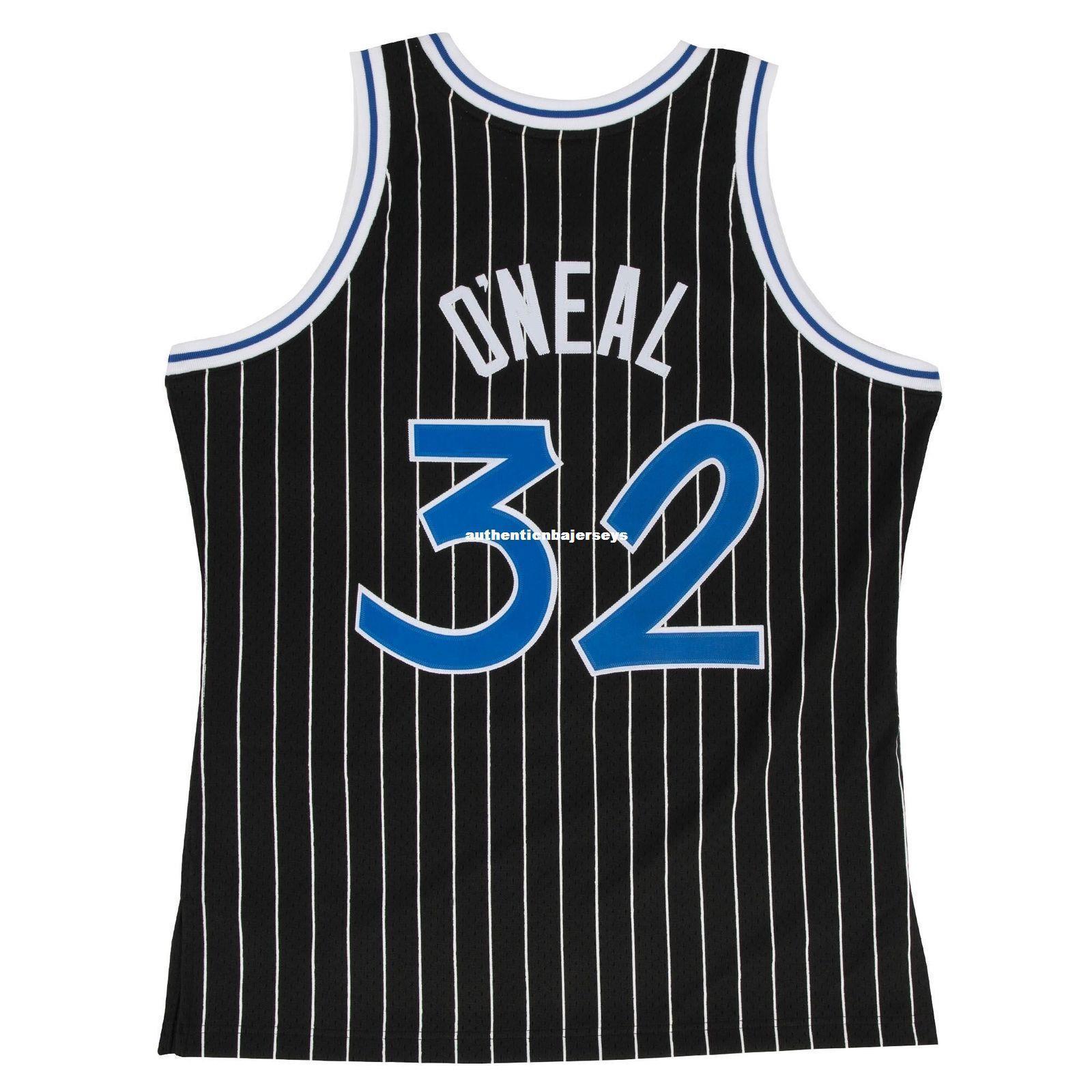 Retro Shaquille O'Neal # 32 preto Sewn alta qualidade Top Vintage JERSEY Vest Mens Tamanho XS-6XL costurado basquete Jerseys Nc