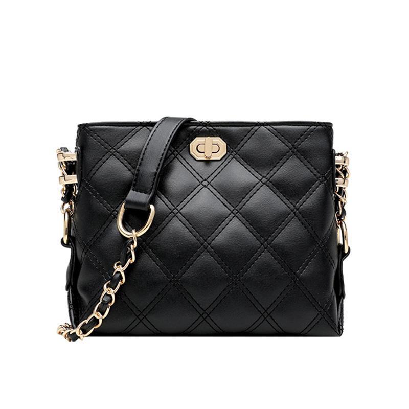 Messenger PU Bags Mini And Purses Chain Quilted Women Shoulder Fashion For Lattice Diamond Handbags Bucket Eqnv Crossbody Bag Rwope Lea Dlda