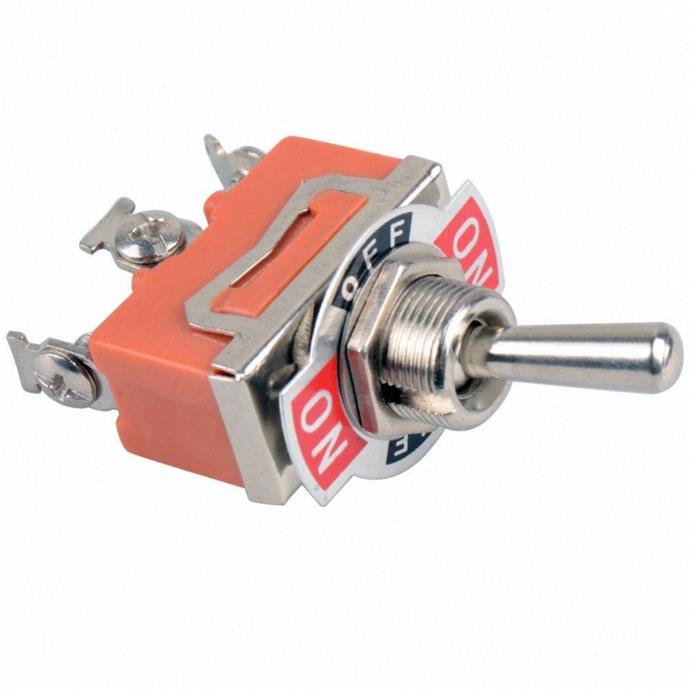 Wholesale-2015 NEW high quality!!!On/Off/ 3 Screw Terminals AC 250V 15A SPDT Toggle Switch VE180 P 8pYM#