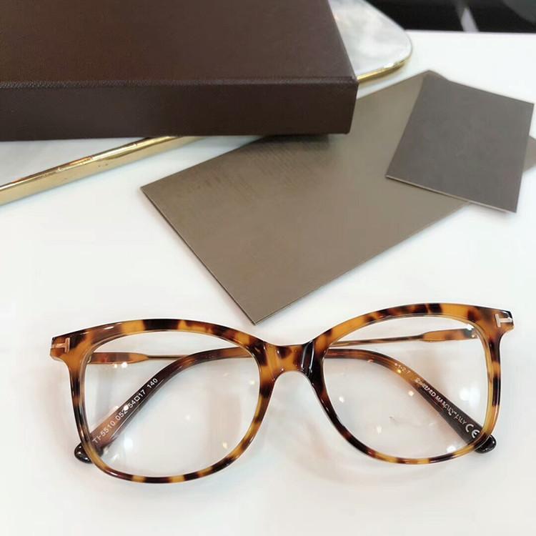 2020 más nuevo FT5510 concisa norble la moda femenina ultraligero marco de los vidrios del diseño del tablón importados-Italia-conjunto completo caso freeshipping al por mayor