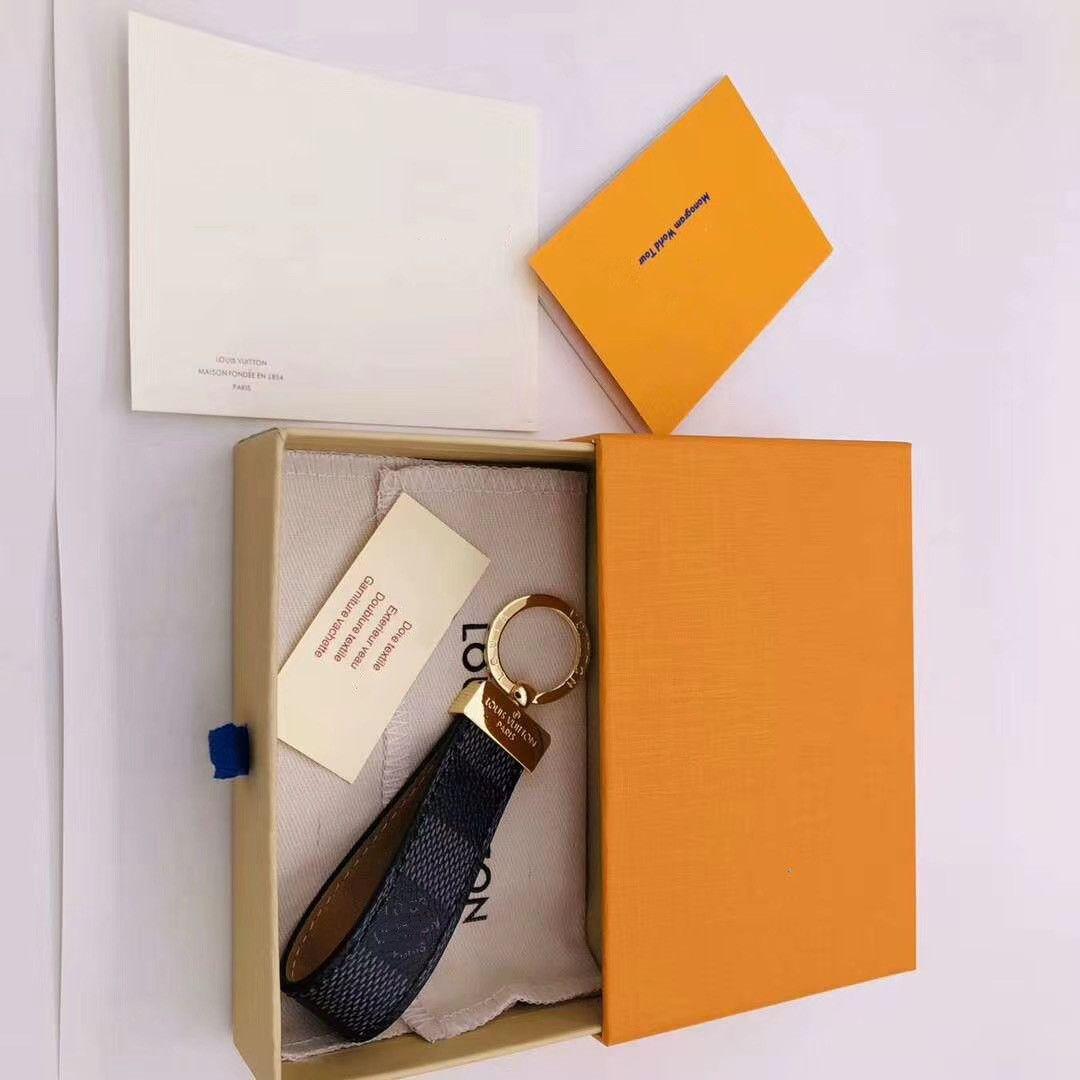 Europäische und amerikanische Art und Weise keychain Geschenke für Männer und Auto-Taschen Frauen Schlüsselanhänger Kastenverpackung