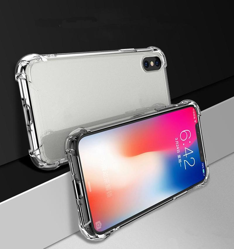 2020 Transparent ibrida antiurto Acrilico Case Cover posteriore dura Armatura per iPhone XS 11 Pro Max XR 8 7 Plus Samsung S10 20 note10 Scatole DHL