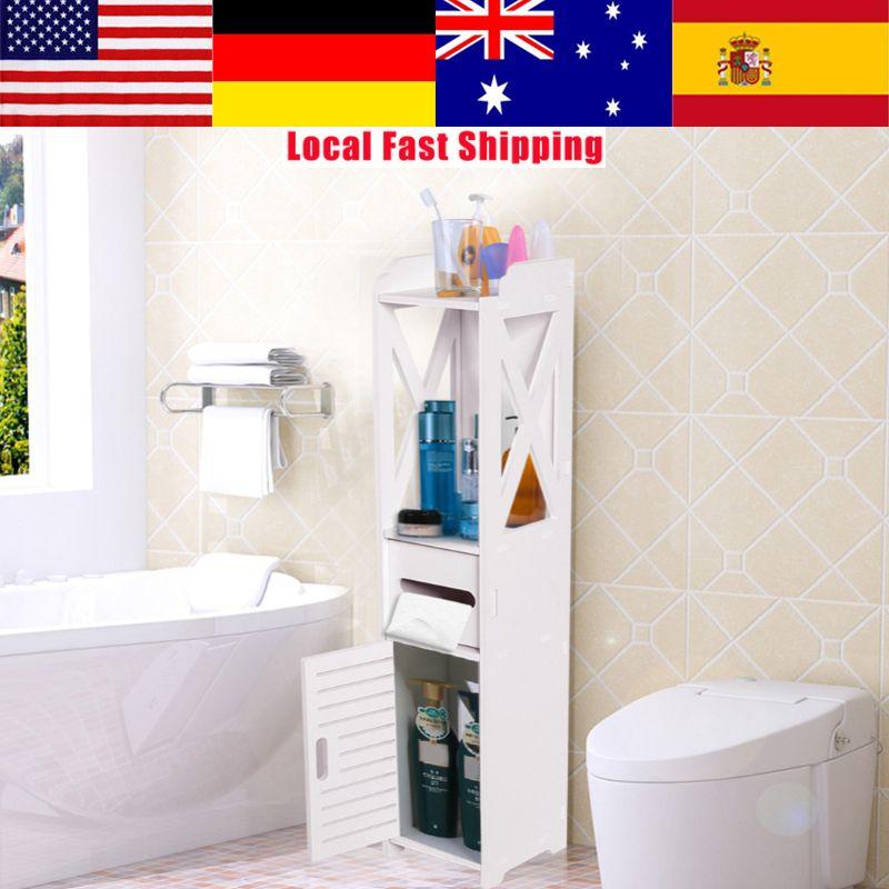 Floor Standing Bathroom Cabinet Cupboard Toilet Washbasin ...