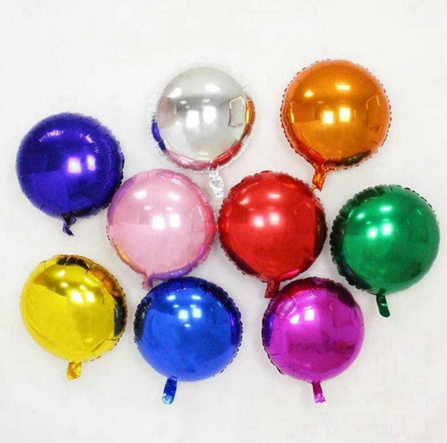18 인치 라운드 호일 금속 다채로운 풍선 베이비 샤워 결혼식 생일 파티 풍선 축제 파티 레이아웃 장식 풍선 RRA3293
