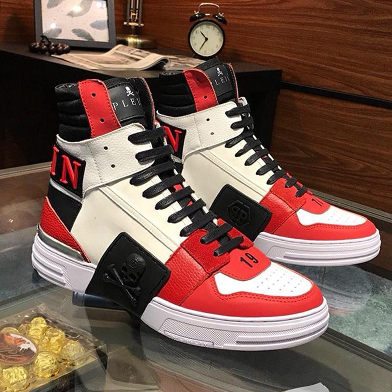 Erkekler Ayakkabı Sneakers Moda Spor Eğitmenler Yumuşak ile Kutusu Erkek Ayakkabı Çizme Lüks Chaussures Hommes Fantom Kick $ Merhaba -Top Deri Mix S22 dökün