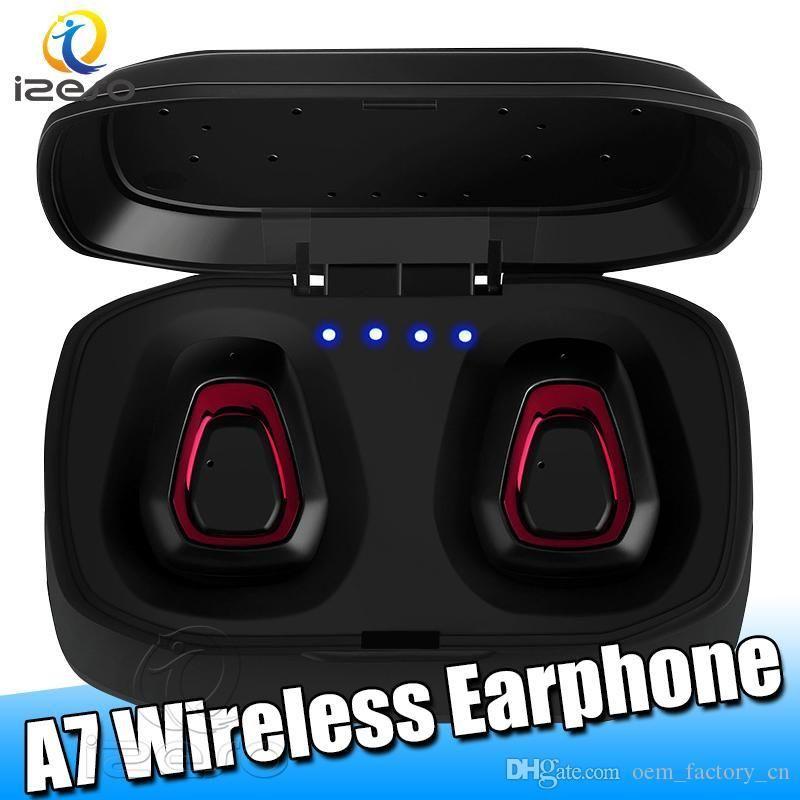 Bluetooth 5.0 estéreo verdadero Auricular inalámbrico de manos libres A7 Mini HIFI TWS Auriculares Sport Business auricular portable con el empaquetado al por menor lyjAD