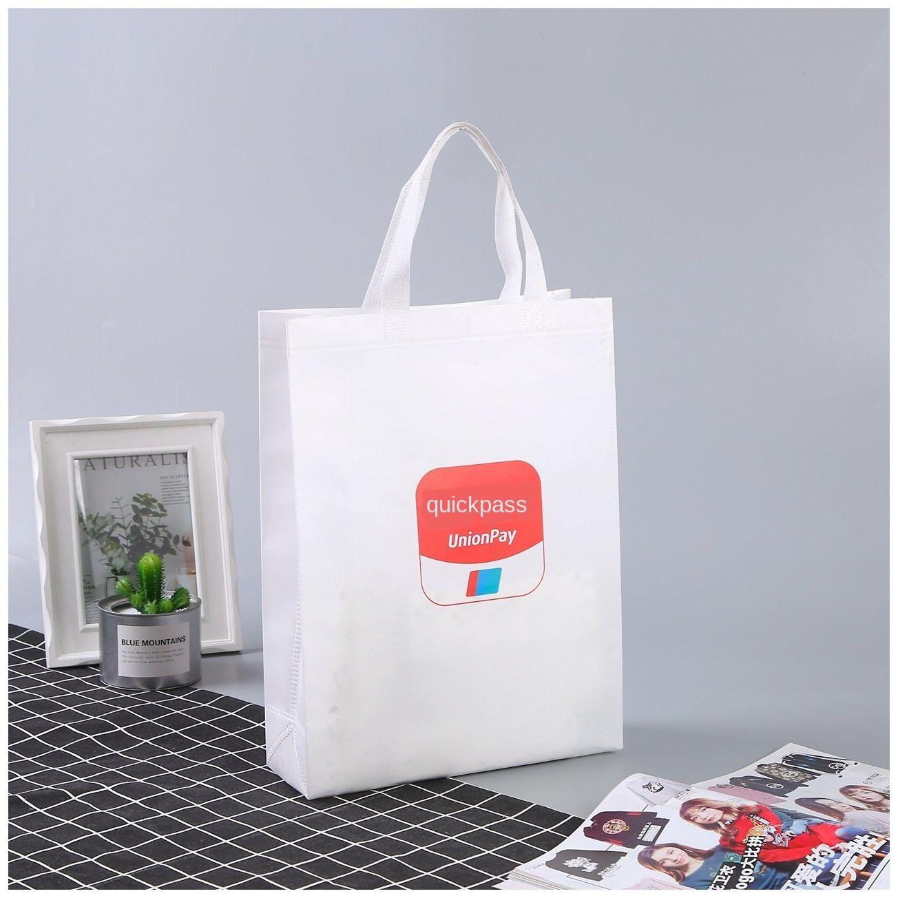 Coated printing design shopping shoulder stereo handbag non-woven Shopping Bag non-woven