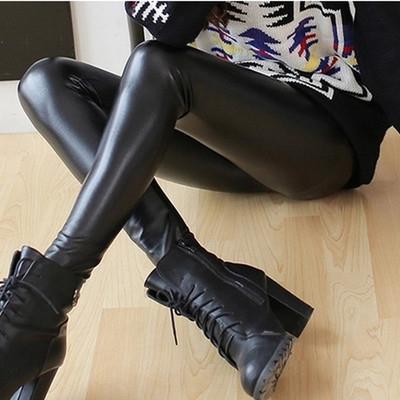 ns1Px DzRPV que adelgaza la primavera y polainas capa densa de las nuevas mujeres de las polainas de cuero de imitación de los pantalones otoño exterior pantalones de cuero apretados desgaste Trouse