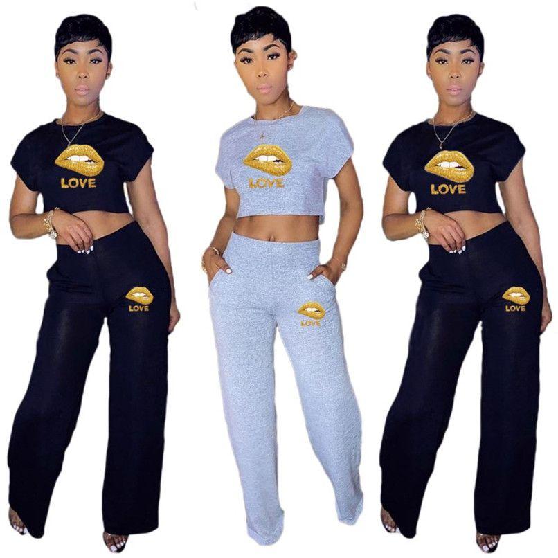 Womens due pezzi tuta abiti i vestiti delle ghette manica corta da jogging sport degli abiti sportivi klw4568 molto caldo