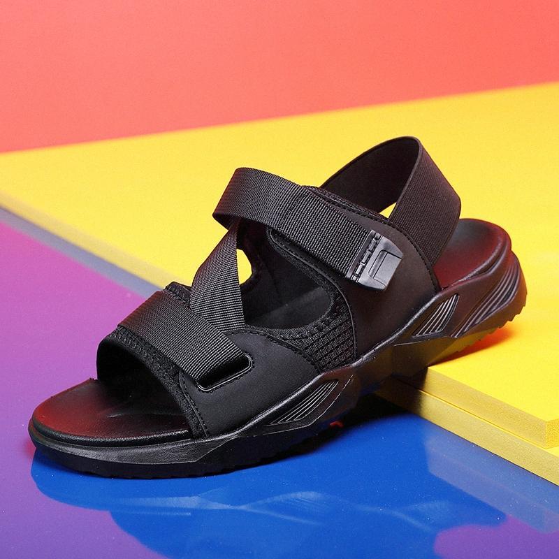 2020 New Men White Black Summer Sandals Women Shoes Beach Sandals Slippers Fashion Platform Casual Shoes Zapatos De Hombre 7Fvm#