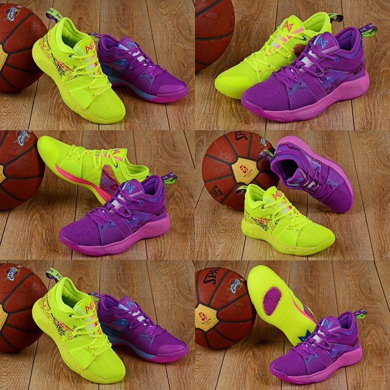 Yeni Sıcak Ne PlayStation Paul George II Erkek Çocuk Basket Ayakkabısı Qaulitys PG2'dir 2s Graffiti Spor Ayakkabı Spor Ayakkabılar Duck PG 2 EP