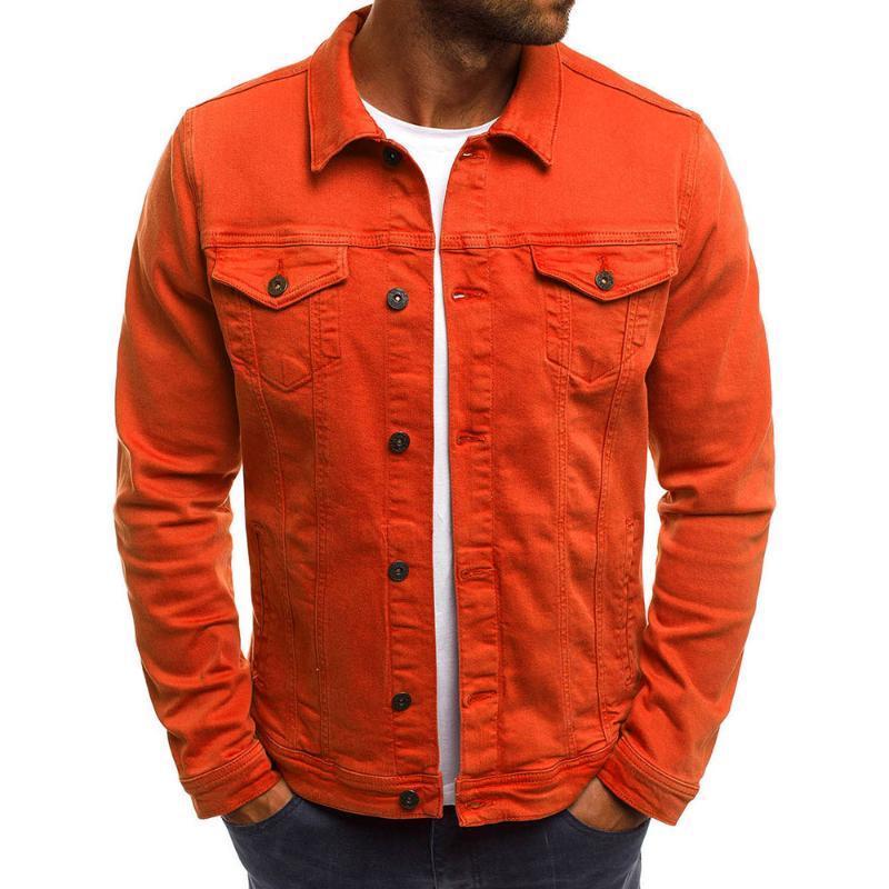 남성의 데님 재킷 고품질 패션 청바지 재킷 슬림핏 캐주얼 스트리트 빈티지 남성 진 의류 플러스 사이즈