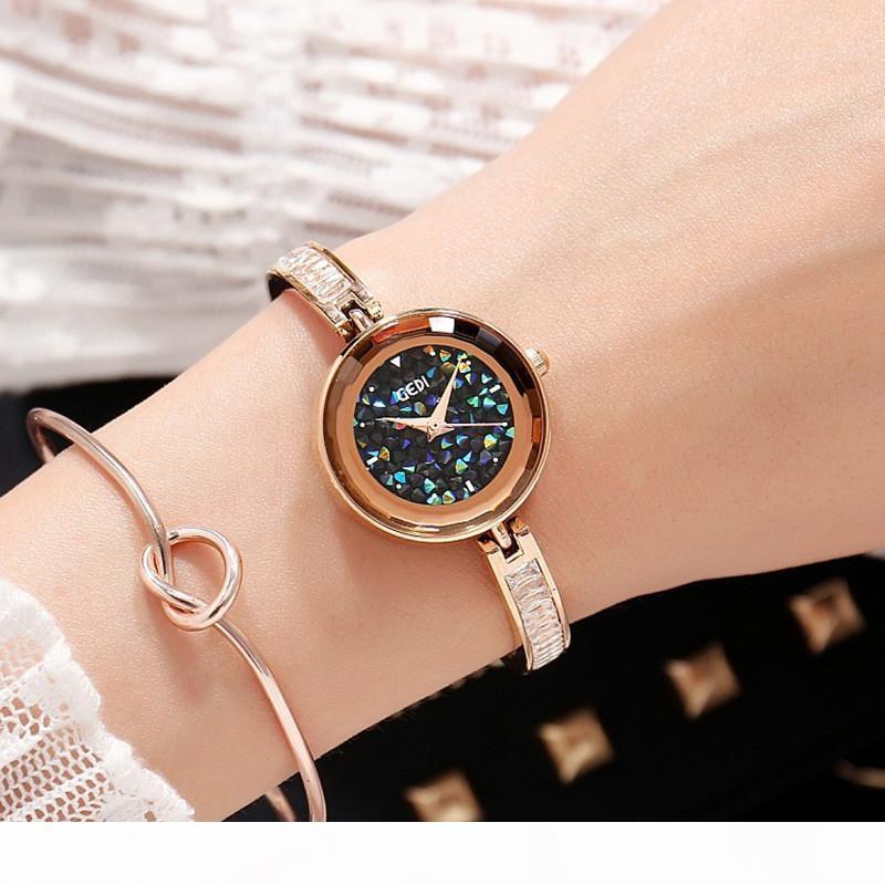 2018 New GEDI Brand Luxury Watches Women Fashion Bracelet Quartz Crystal Wrist Watches Ladies Casual Dress Sport Watch Clock S924