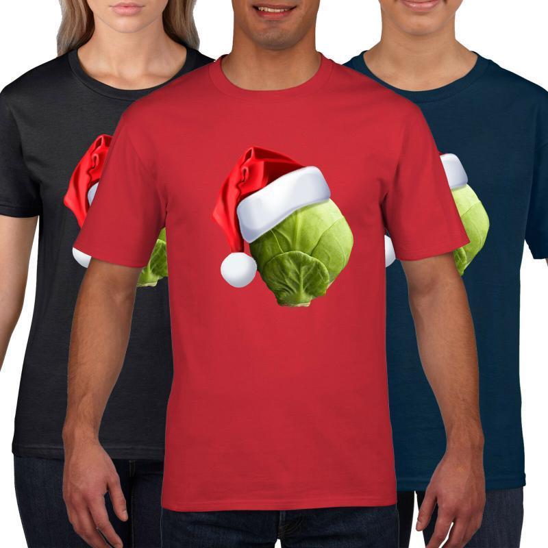 Sprout Hat Funny Christmas T-Shirt Männer Frauen Kinder Neuheit T-Shirt Sankt-Geschenk