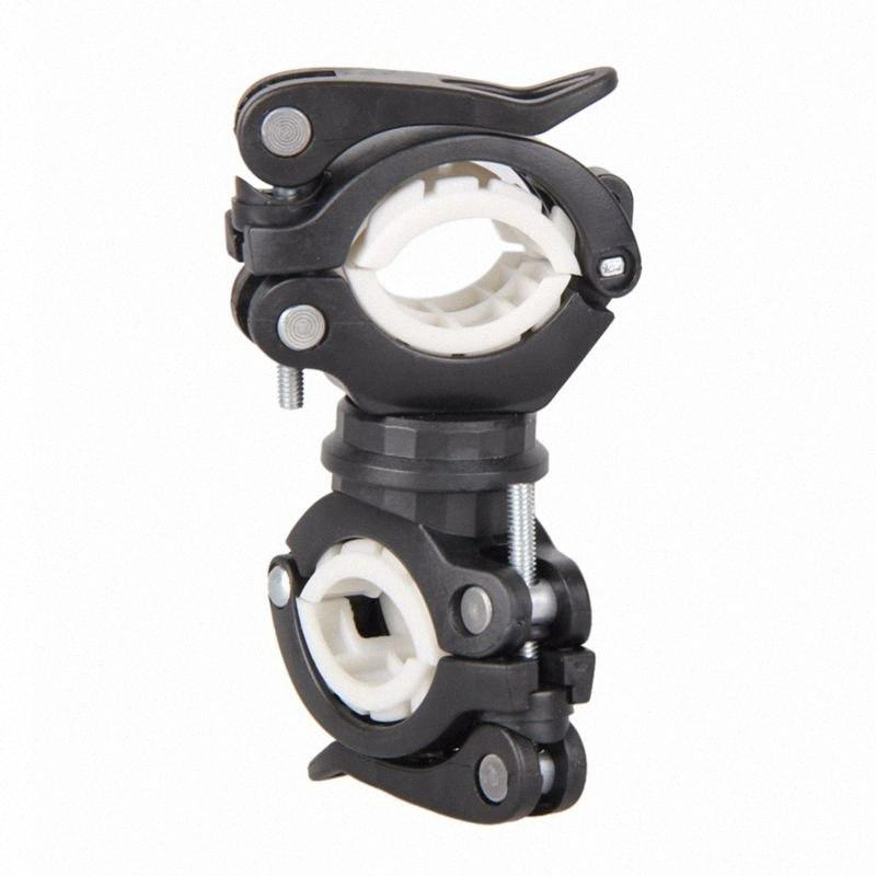360 Degree Rotating Cycling Bike Light Double Holder LED Front Lamp Pump Handlebar Mount Holder Bicycle Accessorie bl XtrC#