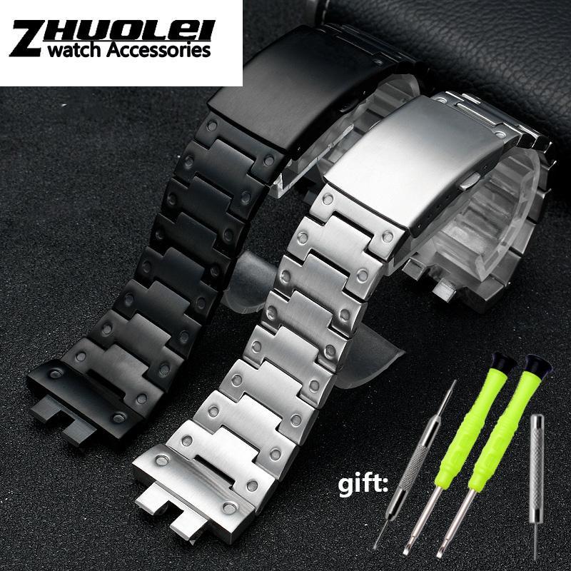 modificação 316L pulseira de aço sólido Para C-asio L GMW-B5000 pulseira pulseira de aço inoxidável da série dos homens