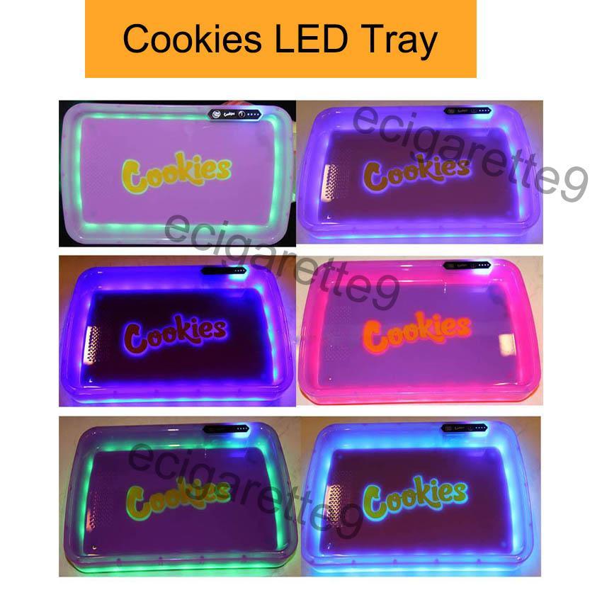 Cookies California PARTY MODE Glowtray LED Cookies rotolamento Glow Vassoio Giallo Viola Runtz Imballaggio scatola di carta di rotolamento 420 cookie bagliore vassoio