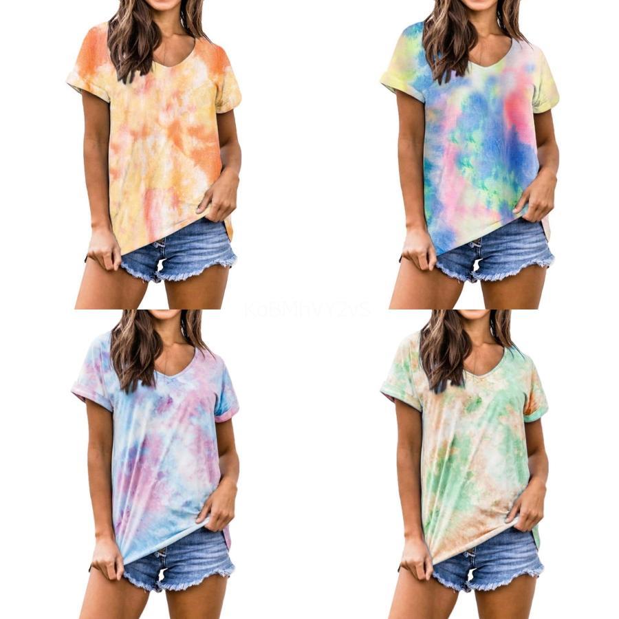 2020 весной и летом моды T-Shirt Смешные печать Набор с короткими рукавами футболки Большой размер женщин T-Shirt Hot Sale # 350